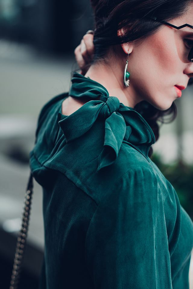 chloe green top with white eyelet skirt-
