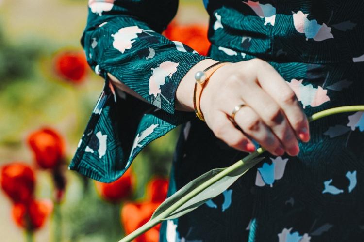 green floral dress tulip farm-2992