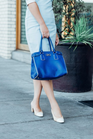 blue custom made light blue dress-5657