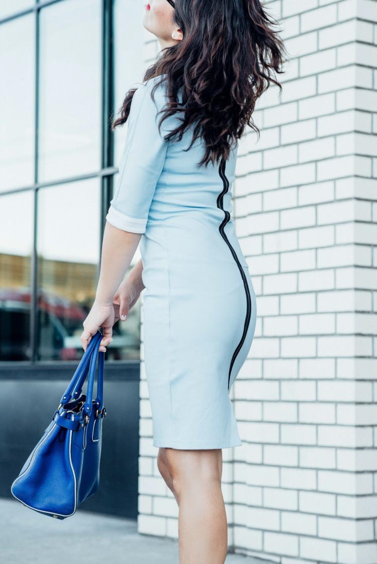 blue custom made light blue dress-5744