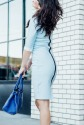 blue custom made light blue dress-5744