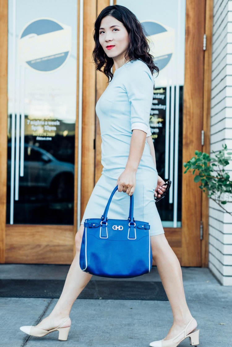 blue custom made light blue dress-5834