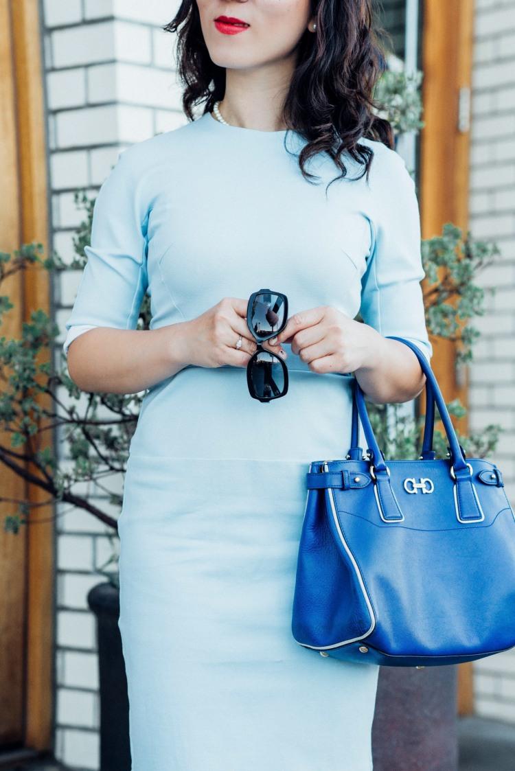 blue custom made light blue dress-5861