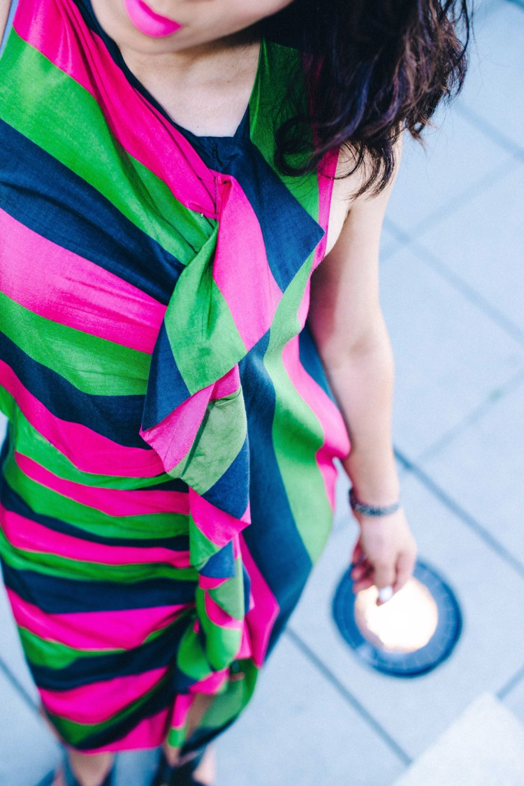 ISA Arfen colorful dress-4181
